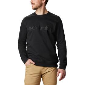 Columbia Logo Fleece Crew Sweater Heren, black puff logo
